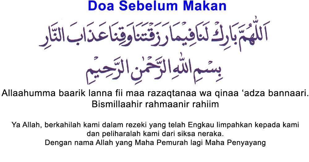 Bacaan Doa Makan Rumi Dan Jawi