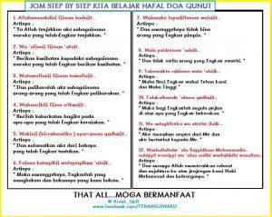 Bacaan Doa Qunut Rumi Dan Jawi